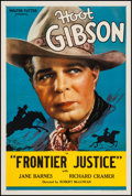"Movie Posters:Western, Frontier Justice (Diversion, 1936). Stock One Sheet (27"" X 41"").Western.. ..."