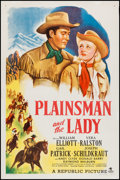 """Movie Posters:Western, Plainsman and the Lady (Republic, 1946). One Sheet (27"""" X 41""""). Western.. ..."""