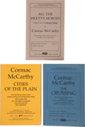 Books:Literature 1900-up, Cormac McCarthy. The Border Trilogy. Titles include: All thePretty Horses, The Crossing, Cities of the Plain. New York:...(Total: 3 Items)