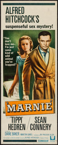"""Movie Posters:Hitchcock, Marnie (Universal, 1964). Insert (14"""" X 36""""). Hitchcock.. ..."""