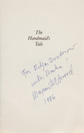 Books:Science Fiction & Fantasy, Margaret Atwood. The Handmaid's Tale. Boston: HoughtonMifflin, 1986. First American edition. Presentation copy, i...