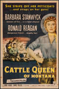 """Movie Posters:Western, Cattle Queen of Montana (RKO, 1954). One Sheet (27"""" X 41""""). Western.. ..."""