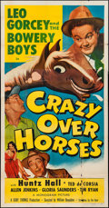 "Movie Posters:Sports, Crazy Over Horses (Monogram, 1951). Three Sheet (41"" X 79""). Sports.. ..."
