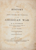 Books:Americana & American History, [American Revolution]. C[harles] Stedman. The History, Origin,Progress, and Termination of the American War. London...(Total: 2 Items)