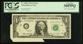 Error Notes:Foldovers, Fr. 1908-J $1 1974 Federal Reserve Note. PCGS Very Fine 30PPQ.. ...