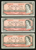 Canadian Currency: , A Trio of High Grade Canadian $2 Replacement Notes.. ... (Total: 3notes)