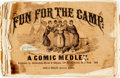 Books:Art & Architecture, [Cartoons]. Fun for the Camp: a Comic Medley. New York:Christopher, Morse & Skippon, 1862. No edition stated. Oblongquarto...