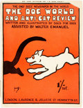 Books:Art & Architecture, [Cartoons]. Walter Emanuel. The Dog World and Anti-Cat Review. London: Lawrence & Jellicoe, [1909]. No edition state...