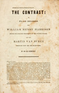 Books:Americana & American History, [Americana]. [Jacob Bailey Moore]. The Contrast: or, PlainReasons Why William Henry Harrison Should be ElectedPresiden...