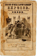 Books:Americana & American History, [Odd-Fellows]. Odd Fellowship Exposed. New York: [N.p.],1846. Octavo. Publisher's printed self-wrappers. Three hori...