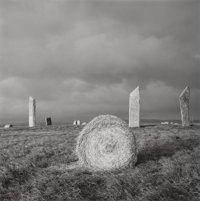 FAY GODWIN (British, b. 1931) Stones of Stenness, Orkney, 1977 Gelatin silver 7 x 7 inches (17.8