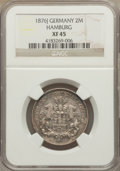German States:Hamburg, German States: Hamburg. Free City 2 Mark 1876-J XF45 NGC,...