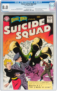 The Brave and the Bold #25 Suicide Squad (DC, 1959) CGC VF 8.0 Cream to off-white pages