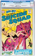 Silver Age (1956-1969):Adventure, The Brave and the Bold #27 Suicide Squad (DC, 1960) CGC FN/VF 7.0 Cream to off-white pages....