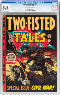 Two-Fisted Tales #35 (EC, 1953) CGC VF+ 8.5 Off-white to white pages
