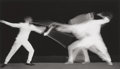 Photographs, DR. HAROLD EDGERTON (American, 1903-1990). Fencers, 1938. Gelatin silver, printed later. 8 x 13-1/4 inches (20.3 x 33.7 ...