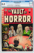 Golden Age (1938-1955):Horror, Vault of Horror #25 (EC, 1952) CGC VF 8.0 Off-white to whitepages....