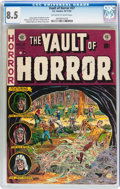 Golden Age (1938-1955):Horror, Vault of Horror #27 (EC, 1952) CGC VF+ 8.5 Off-white to whitepages....
