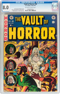 Golden Age (1938-1955):Horror, Vault of Horror #28 (EC, 1953) CGC VF 8.0 Off-white to whitepages....