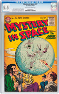 Golden Age (1938-1955):Science Fiction, Mystery in Space #27 (DC, 1955) CGC FN- 5.5 Cream to off-whitepages....