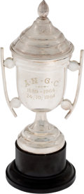 Golf Collectibles:Miscellaneous, 1964 Africa National Cup From Bobby Locke Estate....