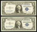 Error Notes:Error Group Lots, Fr. 1613W $1 1935D Wide Silver Certificate. Extremely Fine-AboutUncirculated; Fr. 1620 $1 1957A Silver Certificate. Very Fine...(Total: 2 notes)