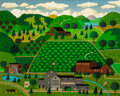 Fine Art - Painting, American:Contemporary   (1950 to present)  , CHARLES WYSOCKI (American, 1900-1999). Watermelon Patch. Oilon canvas. 24 x 30 inches (61.0 x 76.2 cm). Signed lower le...
