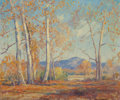 Fine Art - Painting, American:Modern  (1900 1949)  , ARTHUR HILL GILBERT (American, 1894-1970). Golden Sycamores.Oil on canvas. 25 x 30 inches (63.5 x 76.2 cm). Signed lowe...