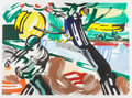 Prints:Contemporary, ROY LICHTENSTEIN (American, 1923-1997). The Sower (from theLandscapes series), 1985. Lithograph, woodcut andsc...