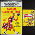Basketball Collectibles:Others, 1958-59 Harlem Globetrotters (Featuring Wilt Chamberlain) Program and circa 1980's Broadside. ...