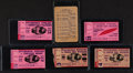 Football Collectibles:Tickets, 1949-54 Green Bay Packers, Pittsburgh Steelers Ticket Stubs, Schedule Lot of 6....
