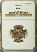 Proof Buffalo Nickels, 1914 5C PR66 NGC....