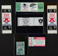 Football Collectibles:Tickets, 1961-94 Raiders, Etc. Tickets Lot of 6....