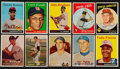 Baseball Cards:Lots, 1957 - 1959 Topps Baseball Collection (250) With Rookies and '57Middle-Series! ...