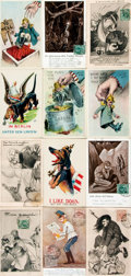 """Miscellaneous:Postcards, [Postcards]. Group of Twenty-two World War I Themed Postcards.[n.d., ca. 1910s]. Most measuring approximately 3.5"""" x 5.5"""". ..."""