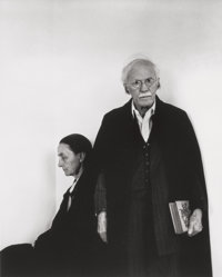 ARNOLD NEWMAN (American, 1918-2006) Alfred Stieglitz and Georgia O'Keeffe, An American Place, NYC, 1944