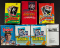 Baseball Cards:Unopened Packs/Display Boxes, 1986 - 1989 Topps, Fleer, Donruss Baseball Box Collection (12). ...