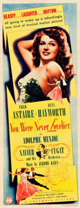 "Movie Posters:Musical, You Were Never Lovelier (Columbia, 1942). Insert (14"" X 36"").. ..."