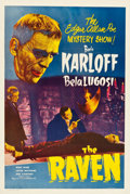 """Movie Posters:Horror, The Raven (Realart, R-1948). One Sheet (27.25"""" X 41"""").. ..."""