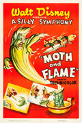 "Movie Posters:Animated, Moth and Flame (RKO, R-1950). One Sheet (27.5"" X 41"").. ..."