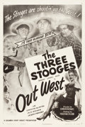 "Movie Posters:Comedy, The Three Stooges in Out West (Columbia, 1947). One Sheet (27.5"" X41"").. ..."