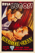 "Movie Posters:Horror, Invisible Ghost (Astor, R-1949). One Sheet (27.5"" X 41"").. ..."