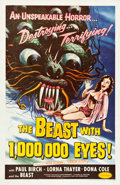 "Movie Posters:Science Fiction, The Beast with 1,000,000 Eyes! (American Releasing Corp., 1955).One Sheet (27"" X 41""). Science Fiction.. ..."