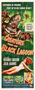 """Movie Posters:Horror, Creature from the Black Lagoon (Universal International, 1954). Insert (14"""" X 36"""") 3-D Style.. ..."""