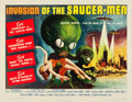 "Movie Posters:Science Fiction, Invasion of the Saucer-Men (American International, 1957). HalfSheet (22"" X 28"").. ..."