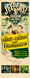 "Movie Posters:Horror, Abbott and Costello Meet Frankenstein (Realart, R-1956). Insert(14"" X 36"").. ..."