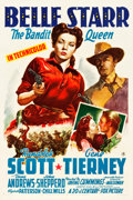 "Movie Posters:Western, Belle Starr (20th Century Fox, 1941). One Sheet (27"" X 41"") StyleB.. ..."