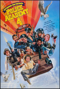 """Police Academy 4: Citizens on Patrol & Others Lot (Warner Brothers, 1987). One Sheets (3) (27"""" X 41"""") Adva..."""