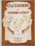 Books:Literature 1900-up, Virginia Woolf. Kew Gardens. Decorated by Vanessa Bell.[London]: Hogarth Press, [1927]. Third English edition, nu...