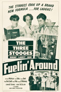 """Movie Posters:Comedy, The Three Stooges in Fuelin' Around (Columbia, 1949). One Sheet(27.25"""" X 41"""").. ..."""